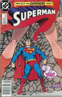 Cover Thumbnail for Superman (DC, 1987 series) #21 [Newsstand Edition]