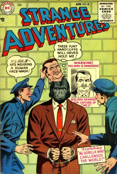 Cover for Strange Adventures (DC, 1950 series) #55