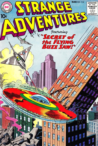 Cover for Strange Adventures (DC, 1950 series) #114