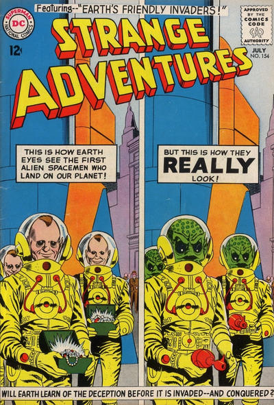 Cover for Strange Adventures (DC, 1950 series) #154