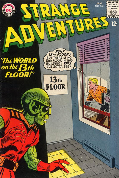 Cover for Strange Adventures (DC, 1950 series) #172
