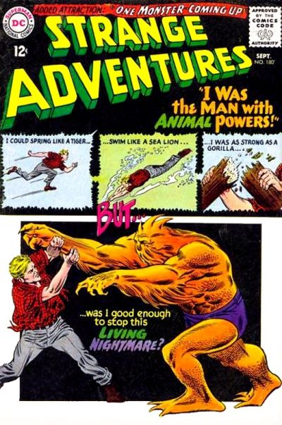 Cover for Strange Adventures (DC, 1950 series) #180
