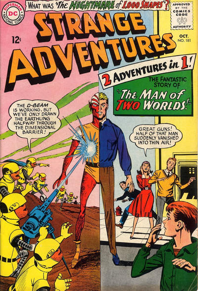 Cover for Strange Adventures (DC, 1950 series) #181