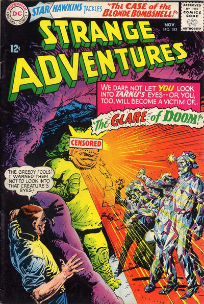 Cover for Strange Adventures (DC, 1950 series) #182