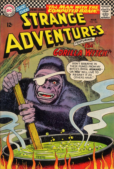 Cover for Strange Adventures (DC, 1950 series) #186