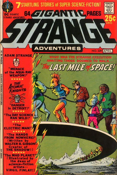 Cover for Strange Adventures (DC, 1950 series) #229