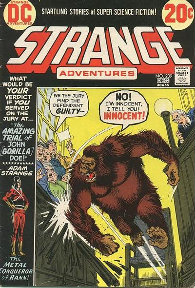 Cover for Strange Adventures (DC, 1950 series) #239
