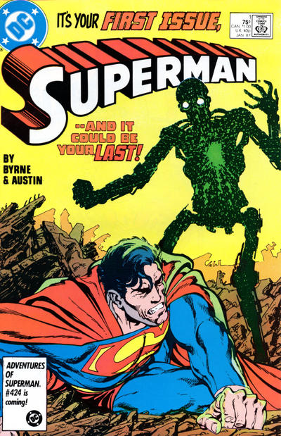 Cover for Superman (1987 series) #1 [Direct Edition]