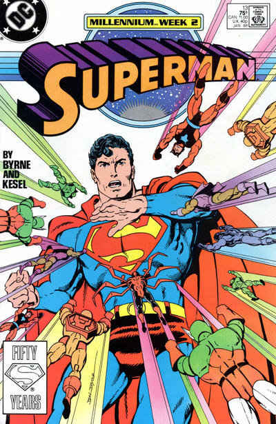 Cover for Superman (1987 series) #13 [Direct Edition]