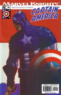 Cover Thumbnail for Captain America (Marvel, 2002 series) #21 [Direct Edition]