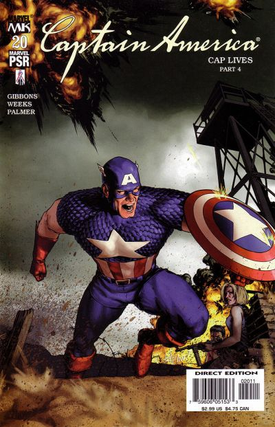 Cover for Captain America (Marvel, 2002 series) #20 [Direct Edition]