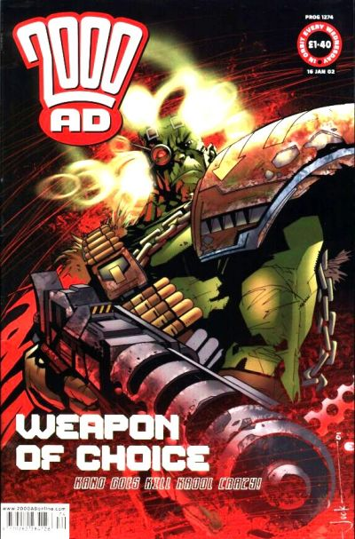 Cover for 2000 AD (Rebellion, 2001 series) #1274