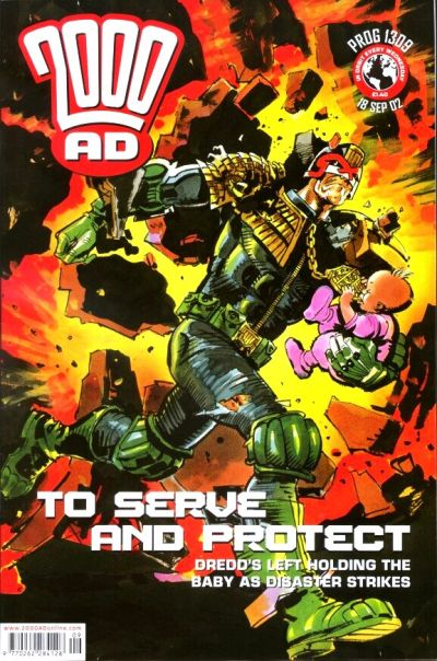 Cover for 2000 AD (Rebellion, 2001 series) #1309
