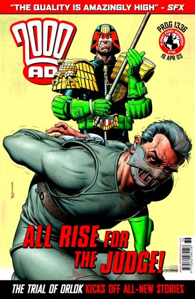 Cover for 2000 AD (Rebellion, 2001 series) #1336