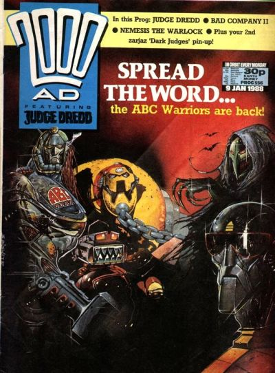 Cover for 2000 AD (Fleetway Publications, 1987 series) #556