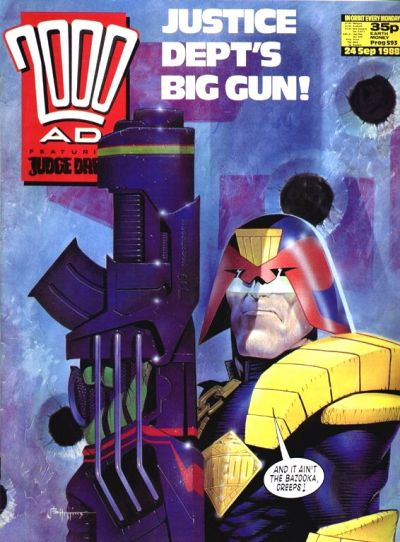 Cover for 2000 AD (Fleetway Publications, 1987 series) #593