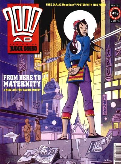 Cover for 2000 AD (Fleetway Publications, 1987 series) #725