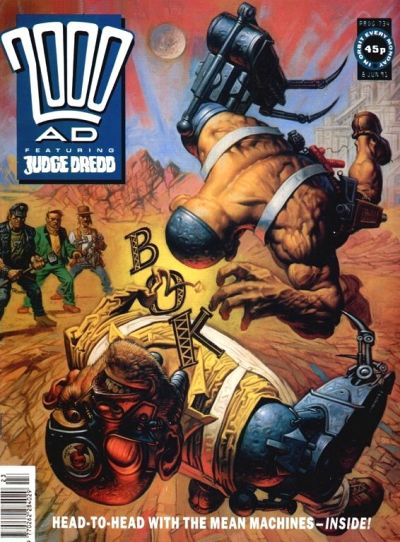 Cover for 2000 AD (Fleetway Publications, 1987 series) #734