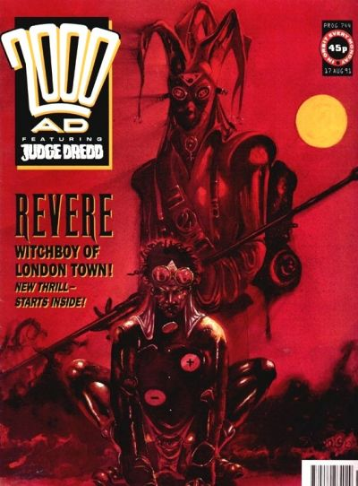 Cover for 2000 AD (Fleetway Publications, 1987 series) #744