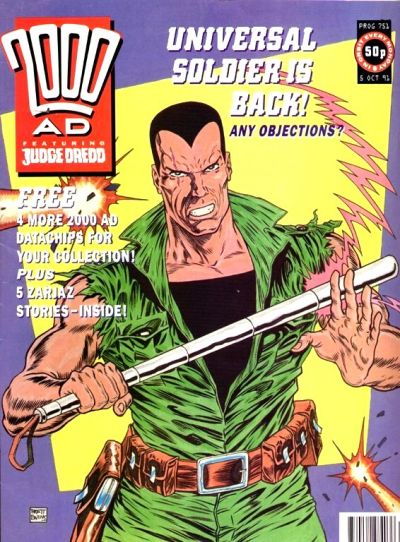 Cover for 2000 AD (Fleetway Publications, 1987 series) #751