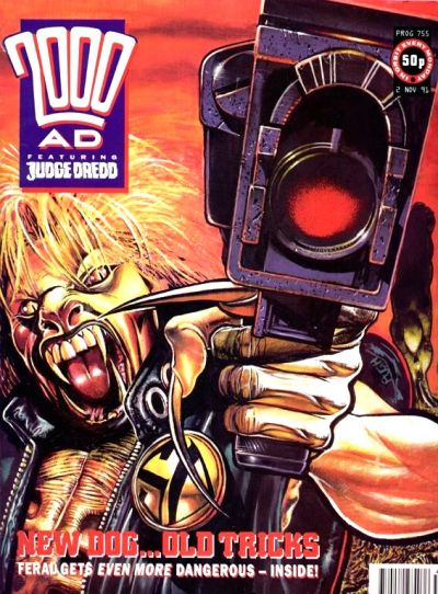 Cover for 2000 AD (Fleetway Publications, 1987 series) #755
