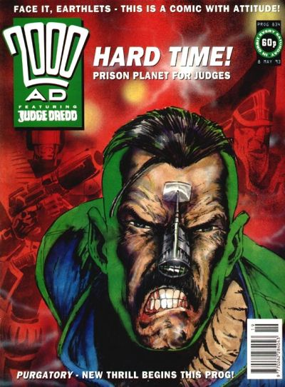 Cover for 2000 AD (Fleetway Publications, 1987 series) #834