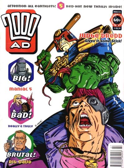 Cover for 2000 AD (Fleetway Publications, 1987 series) #842