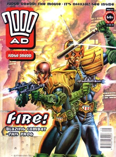 Cover for 2000 AD (Fleetway Publications, 1987 series) #844
