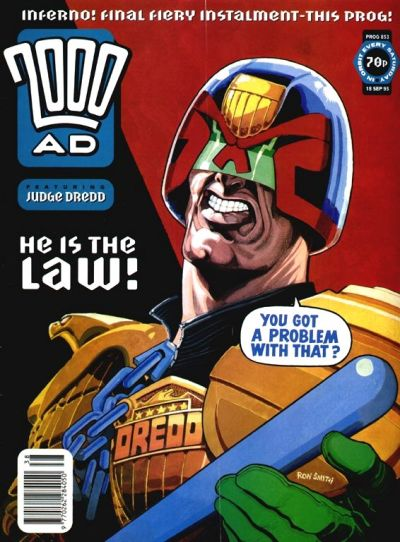 Cover for 2000 AD (Fleetway Publications, 1987 series) #853