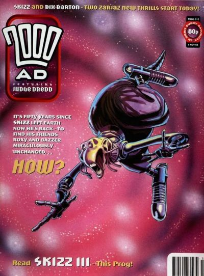Cover for 2000 AD (Fleetway Publications, 1987 series) #912