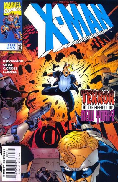 Cover for X-Man (Marvel, 1995 series) #35 [Direct Edition]