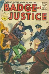 Cover Thumbnail for Badge of Justice (Charlton, 1955 series) #3