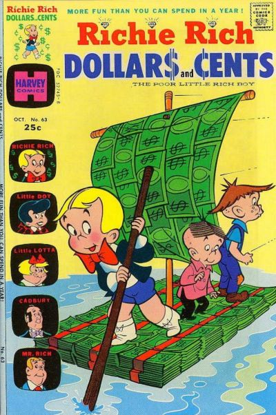 Cover for Richie Rich Dollars and Cents (Harvey, 1963 series) #63