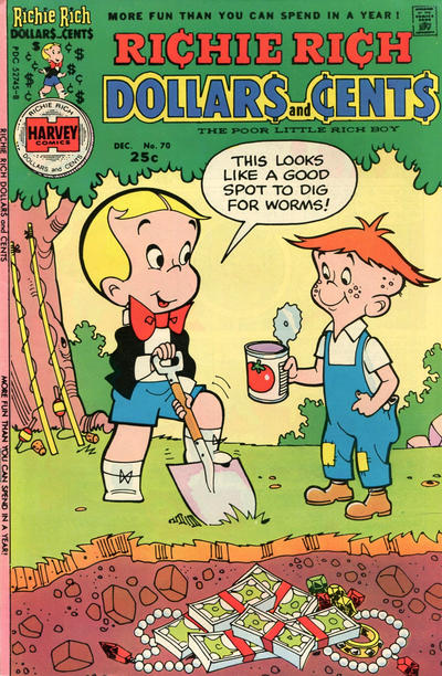 Cover for Richie Rich Dollars and Cents (Harvey, 1963 series) #70