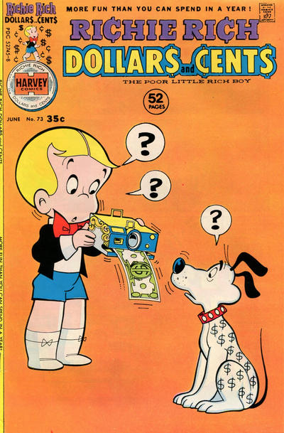 Cover for Richie Rich Dollars and Cents (Harvey, 1963 series) #73