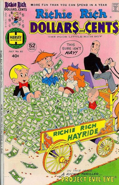 Cover for Richie Rich Dollars and Cents (Harvey, 1963 series) #80