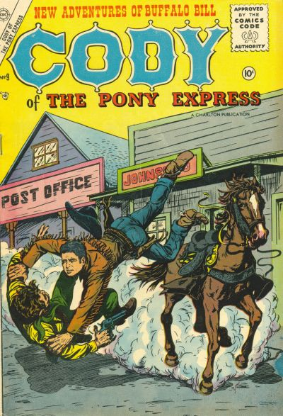 Cover for Cody of the Pony Express (Charlton, 1955 series) #9