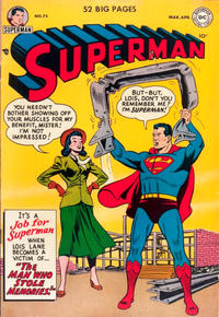 Cover for Superman (1939 series) #75 [Mis-Numbered Cover Variant]