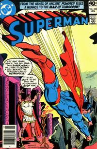 Cover for Superman (DC, 1939 series) #343 [Whitman Variant]