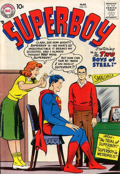 Cover for Superboy (1949 series) #63