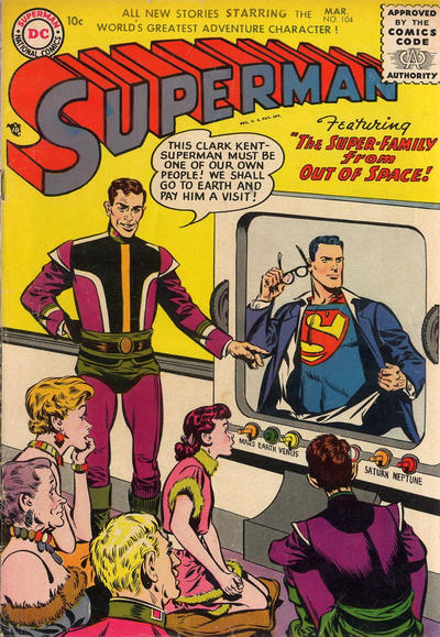 Cover for Superman (DC, 1939 series) #104