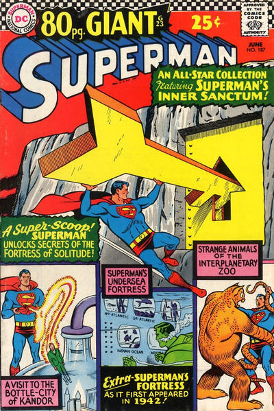 Cover for Superman (DC, 1939 series) #187