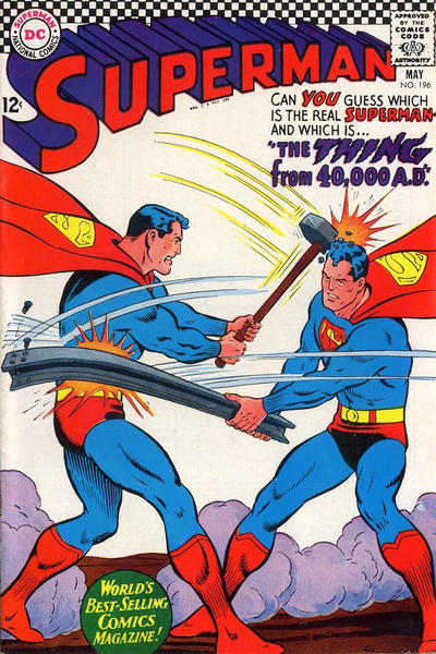 Cover for Superman (DC, 1939 series) #196