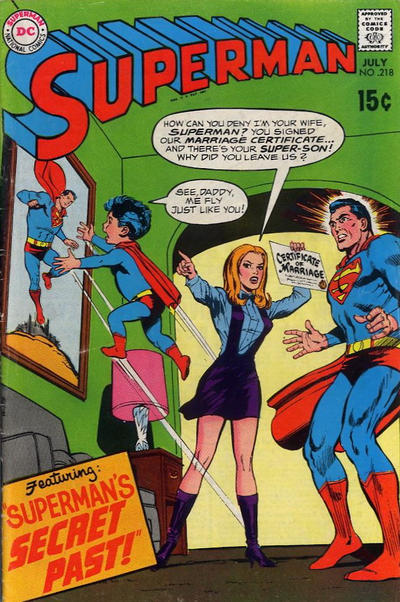 Cover for Superman (DC, 1939 series) #218