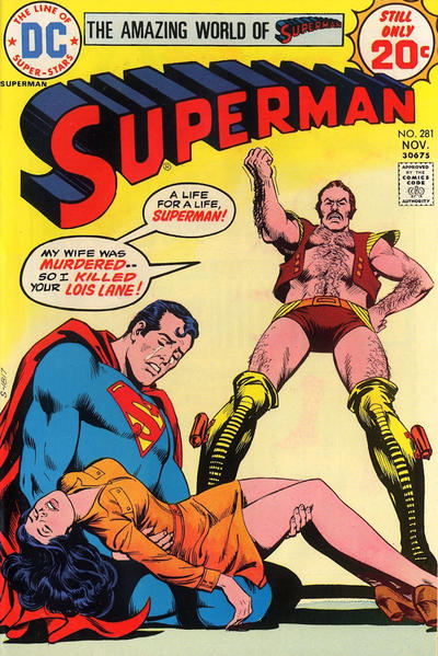 Cover for Superman (DC, 1939 series) #281
