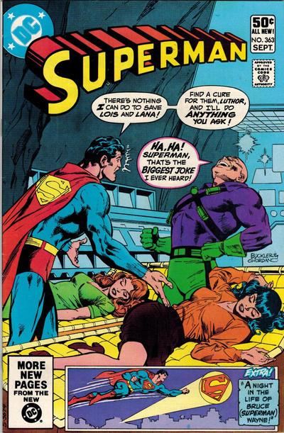 Cover for Superman (DC, 1939 series) #363