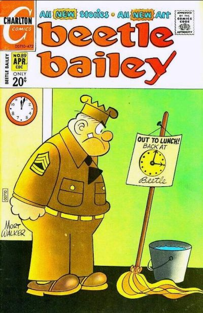 Cover for Beetle Bailey (Charlton, 1969 series) #89