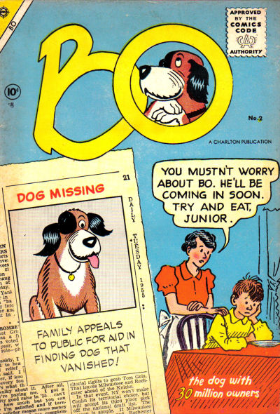 Cover for Bo (Charlton, 1955 series) #2