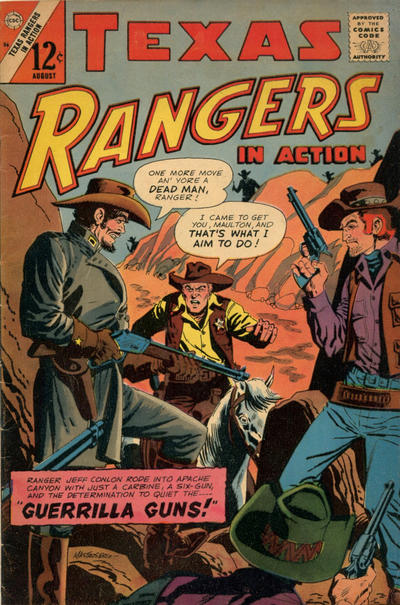 Cover for Texas Rangers in Action (Charlton, 1956 series) #56