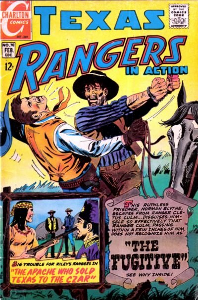 Cover for Texas Rangers in Action (Charlton, 1956 series) #70